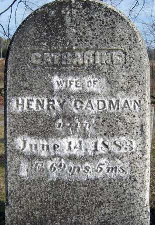 CADMAN, CATHARINE - Saratoga County, New York | CATHARINE CADMAN - New York Gravestone Photos