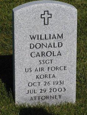 CAROLA, W DONALD - Saratoga County, New York | W DONALD CAROLA - New York Gravestone Photos
