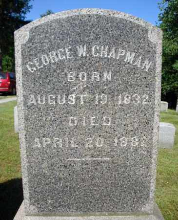 CHAPMAN, GEORGE W - Saratoga County, New York | GEORGE W CHAPMAN - New York Gravestone Photos