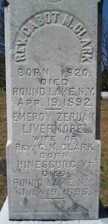 CLARK, EMEROY ZERUAH - Saratoga County, New York | EMEROY ZERUAH CLARK - New York Gravestone Photos