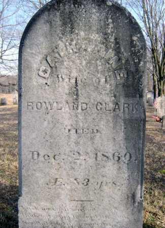 CLARK, CATHARINE - Saratoga County, New York   CATHARINE CLARK - New York Gravestone Photos