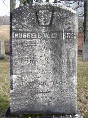 CLARKE, RUSSELL W - Saratoga County, New York | RUSSELL W CLARKE - New York Gravestone Photos