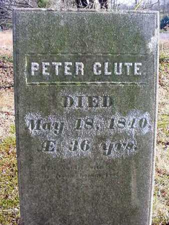 CLUTE, PETER - Saratoga County, New York | PETER CLUTE - New York Gravestone Photos