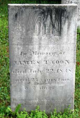 COON, JAMES T. - Saratoga County, New York   JAMES T. COON - New York Gravestone Photos