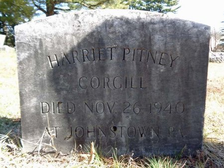 CORGILL, HARRIET - Saratoga County, New York | HARRIET CORGILL - New York Gravestone Photos