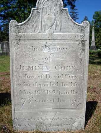 CORY, JEMIMA - Saratoga County, New York | JEMIMA CORY - New York Gravestone Photos