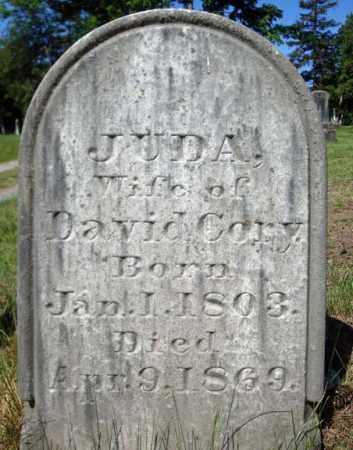 CORY, JUDA - Saratoga County, New York   JUDA CORY - New York Gravestone Photos