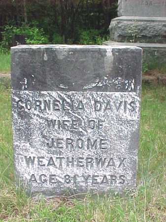 DAVIS, CORNELIA B - Saratoga County, New York | CORNELIA B DAVIS - New York Gravestone Photos