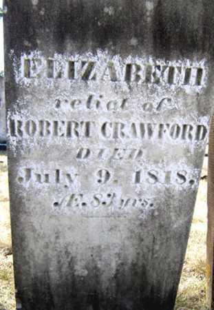 CRAWFORD, ELIZABETH - Saratoga County, New York   ELIZABETH CRAWFORD - New York Gravestone Photos