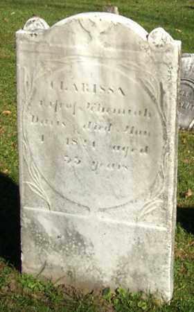DAVIS, CLARISSA - Saratoga County, New York | CLARISSA DAVIS - New York Gravestone Photos