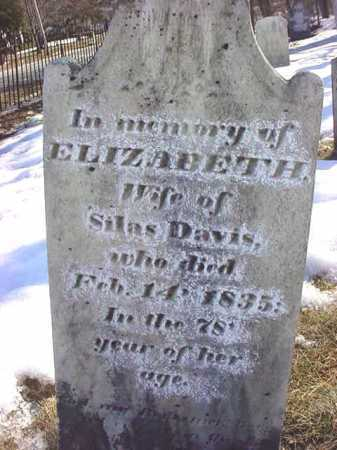 DAVIS, ELIZABETH - Saratoga County, New York | ELIZABETH DAVIS - New York Gravestone Photos