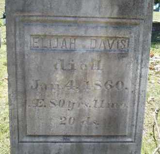 DAVIS, ELIJAH - Saratoga County, New York | ELIJAH DAVIS - New York Gravestone Photos