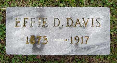 DAVIS, EFFIE D - Saratoga County, New York   EFFIE D DAVIS - New York Gravestone Photos