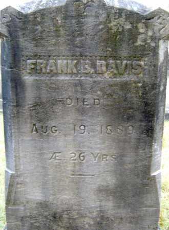 DAVIS, FRANK B - Saratoga County, New York | FRANK B DAVIS - New York Gravestone Photos