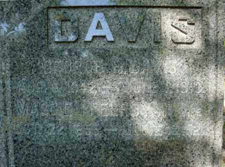 DAVIS, GEORGE H - Saratoga County, New York | GEORGE H DAVIS - New York Gravestone Photos