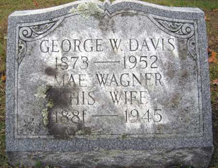 WAGNER DAVIS, MAE - Saratoga County, New York | MAE WAGNER DAVIS - New York Gravestone Photos