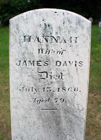 DAVIS, HANNAH - Saratoga County, New York | HANNAH DAVIS - New York Gravestone Photos