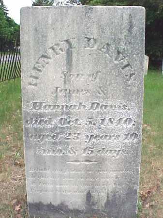 DAVIS, HENRY - Saratoga County, New York | HENRY DAVIS - New York Gravestone Photos