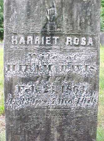DAVIS, HARRIET - Saratoga County, New York | HARRIET DAVIS - New York Gravestone Photos