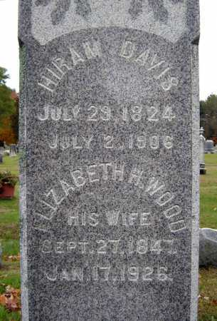 DAVIS, ELIZABETH H - Saratoga County, New York | ELIZABETH H DAVIS - New York Gravestone Photos