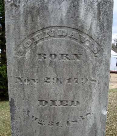 DAVIS, JOHN - Saratoga County, New York   JOHN DAVIS - New York Gravestone Photos