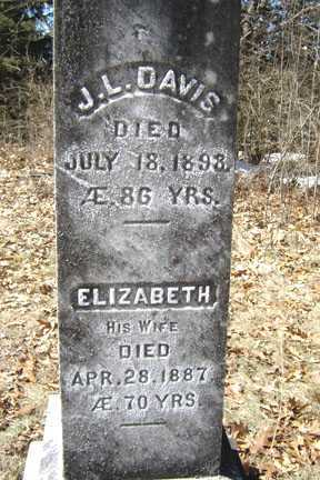 DAVIS, ELIZABETH - Saratoga County, New York | ELIZABETH DAVIS - New York Gravestone Photos