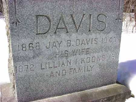 DAVIS, LILLIAN I - Saratoga County, New York | LILLIAN I DAVIS - New York Gravestone Photos