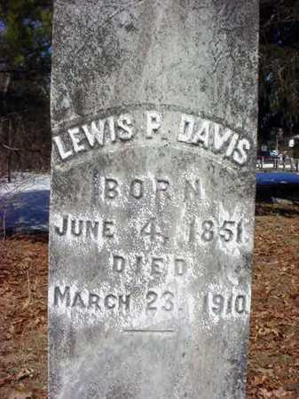 DAVIS, LEWIS P - Saratoga County, New York | LEWIS P DAVIS - New York Gravestone Photos