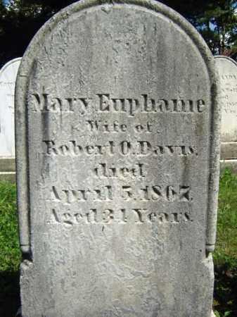 DAVIS, MARY EUPHAME - Saratoga County, New York | MARY EUPHAME DAVIS - New York Gravestone Photos