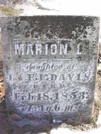 DAVIS, MARION L - Saratoga County, New York | MARION L DAVIS - New York Gravestone Photos