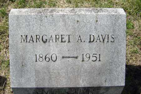 DAVIS, MARGARET A - Saratoga County, New York | MARGARET A DAVIS - New York Gravestone Photos
