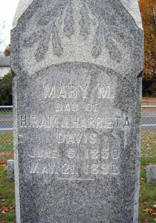 DAVIS, MARY M - Saratoga County, New York   MARY M DAVIS - New York Gravestone Photos
