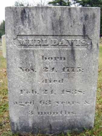 DAVIS, MIEL - Saratoga County, New York | MIEL DAVIS - New York Gravestone Photos