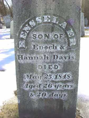 DAVIS, RENSSELAER - Saratoga County, New York | RENSSELAER DAVIS - New York Gravestone Photos