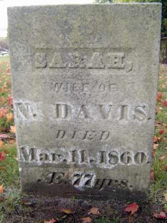 DAVIS, SARAH - Saratoga County, New York | SARAH DAVIS - New York Gravestone Photos