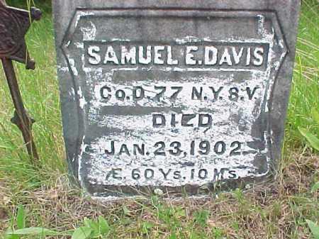 DAVIS, SAMUEL E - Saratoga County, New York | SAMUEL E DAVIS - New York Gravestone Photos