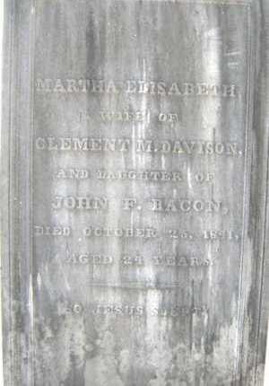BACON, MARTHA ELISABETH - Saratoga County, New York | MARTHA ELISABETH BACON - New York Gravestone Photos