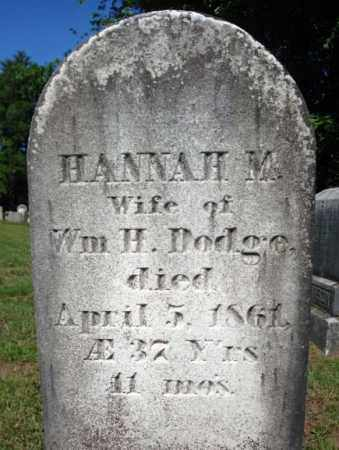 DODGE, HANNAH M - Saratoga County, New York | HANNAH M DODGE - New York Gravestone Photos