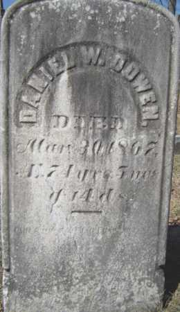 DOWEN, DANIEL W - Saratoga County, New York   DANIEL W DOWEN - New York Gravestone Photos
