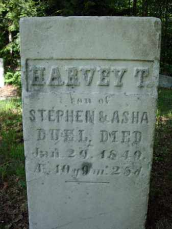 DUEL, HARVEY T - Saratoga County, New York   HARVEY T DUEL - New York Gravestone Photos