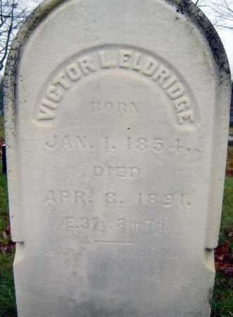 ELDRIDGE, VICTOR L - Saratoga County, New York   VICTOR L ELDRIDGE - New York Gravestone Photos