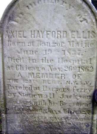 ELLIS, AXIEL HAYFORD - Saratoga County, New York   AXIEL HAYFORD ELLIS - New York Gravestone Photos