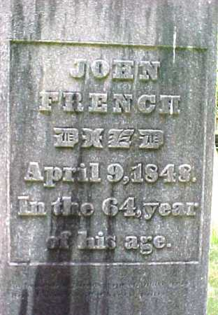 FRENCH, JOHN - Saratoga County, New York   JOHN FRENCH - New York Gravestone Photos