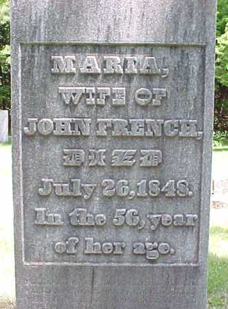 FRENCH, MARIA - Saratoga County, New York | MARIA FRENCH - New York Gravestone Photos