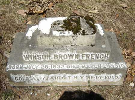 FRENCH (CW), WINSOR BROWN - Saratoga County, New York | WINSOR BROWN FRENCH (CW) - New York Gravestone Photos