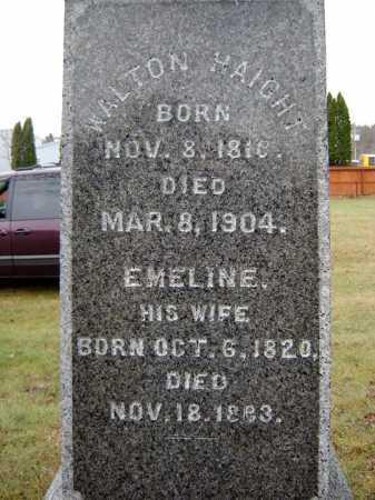 HAIGHT, EMELINE - Saratoga County, New York   EMELINE HAIGHT - New York Gravestone Photos