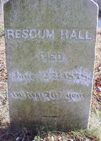 HALL, RESCUM - Saratoga County, New York   RESCUM HALL - New York Gravestone Photos