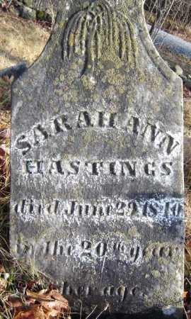 HASTINGS, SARAH ANN - Saratoga County, New York | SARAH ANN HASTINGS - New York Gravestone Photos