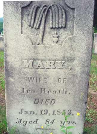 HEATH, MARY - Saratoga County, New York | MARY HEATH - New York Gravestone Photos