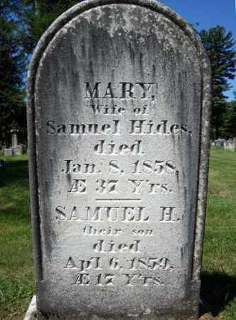 HIDES, SAMUEL H - Saratoga County, New York | SAMUEL H HIDES - New York Gravestone Photos